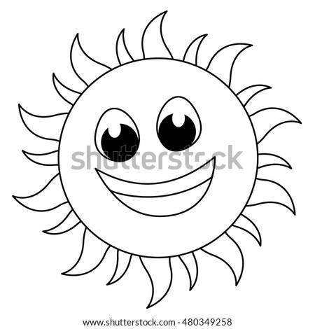 Sun Sketch Line Art Kids Coloring Stock Photo (Photo, Vector ...
