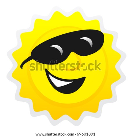 Sun smile - stock vector