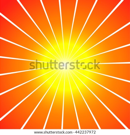 sun sunburst vector background - stock vector