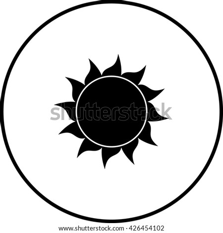 sun symbol - stock vector
