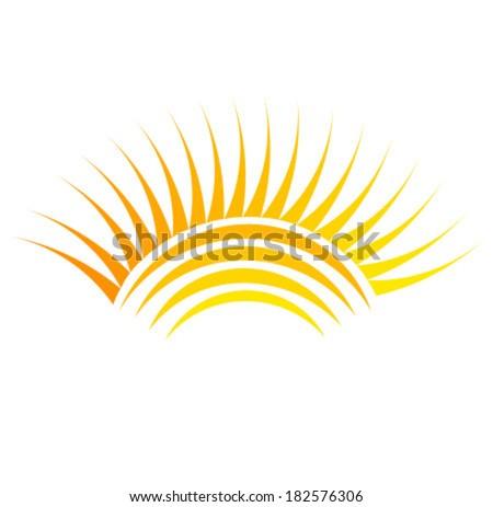 Sun symbol illustration - stock vector