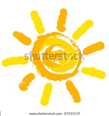 Sun symbol illustration - stock vector