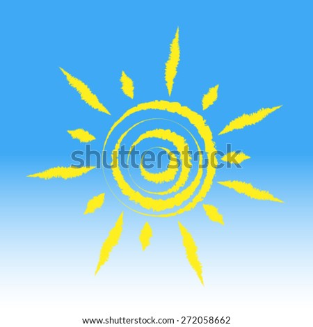 Sun, vector - stock vector