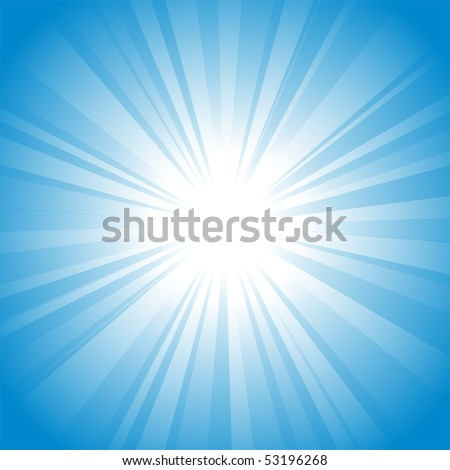 Sun vector background - stock vector