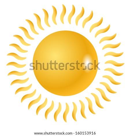 Sun vector symbol, graphics or icon - stock vector