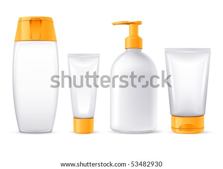 sunblock lotions collection - stock vector
