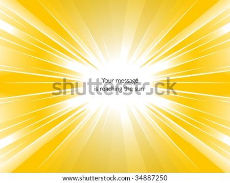 Sunburst - stock vector