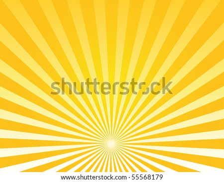 sunburst - stock vector