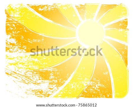 Sunburst And Abstract Backgrounds. Vector illustration - stock vector