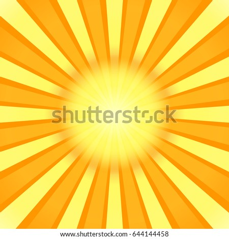 Sunburst Background Radial Sun Rays Banner Stock Vector 644144458 ...