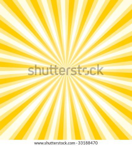 Sunburst background vector illustration - stock vector