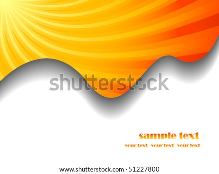 Sunburst business vector background with place for your text - stock vector
