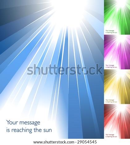 Sunburst collection 4/6 - stock vector