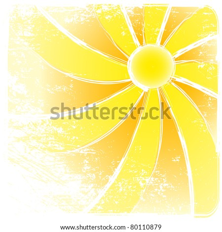 Sunburst grunge And Abstract Backgrounds. Vector illustration - stock vector