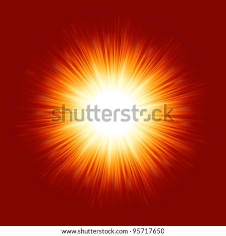 Sunburst rays of sunlight. EPS 8 vector file included - stock vector