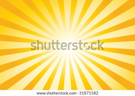 Sunburst vector background - stock vector
