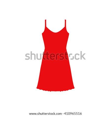 Sundress, Evening dress, combination or nightie, the silhouette. Menu item in the web design. - stock vector