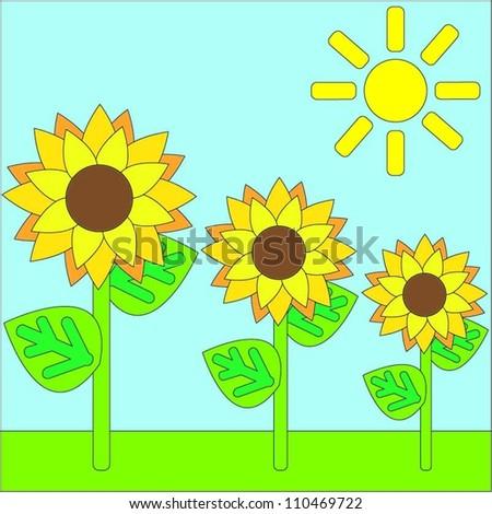 Sunflower - stock vector
