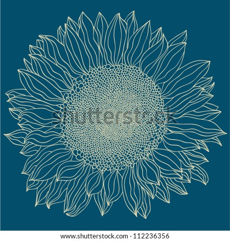 sunflower background - stock vector