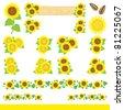 sunflower decoration - stock vector