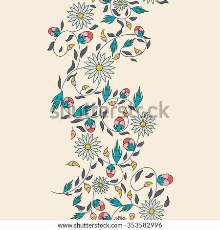 sunflower flower seamless background - stock vector