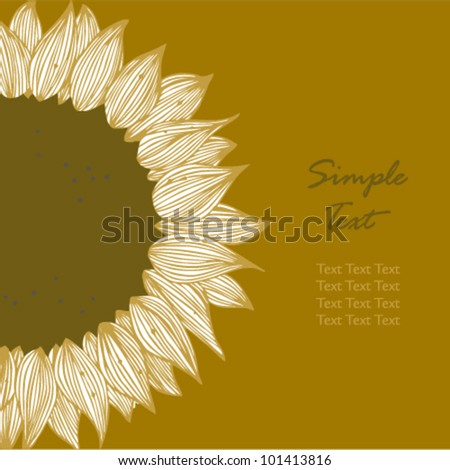 Sunflower text banner. Background for holidays, sewing, arts, crafts, cards, scrapbooks, covers, cake decorating