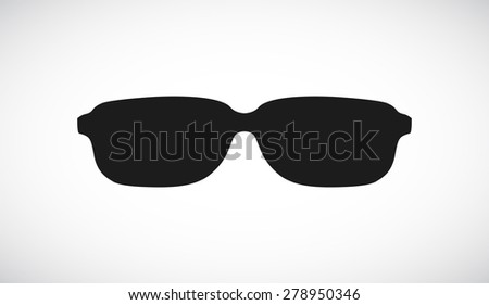 sunglasses icon design - stock vector