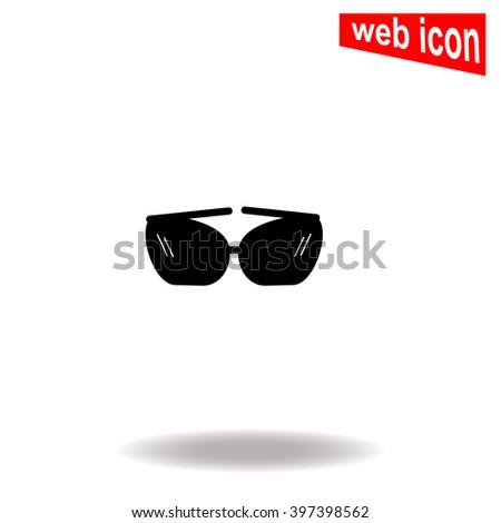Sunglasses icon. Sunglasses icon vector. Sunglasses icon illustration. Sunglasses icon web. Sunglasses icon Eps10. Sunglasses icon image. Sunglasses icon logo. Sunglasses icon sign. Flat icon. App. UI - stock vector