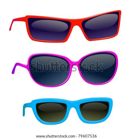 sunglasses male female child - stock vector
