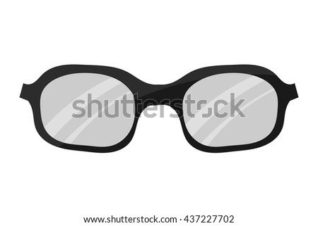 Sunglasses on a white background. Cartoon style. Black sunglasses to protect from the sun in summer. Stock vector illustration