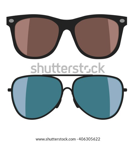 Sunglasses on white background. Vector illustration - stock vector