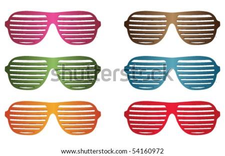 sunglasses set - stock vector