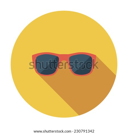 Sunglasses. Single flat color icon. Vector illustration. - stock vector