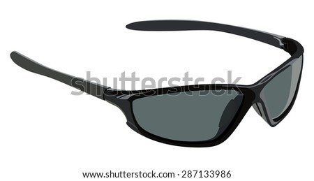 Sunglasses sports on a white background - stock vector