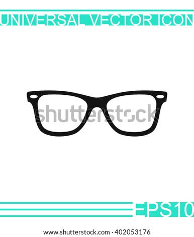 Sunglasses vector icon. - stock vector
