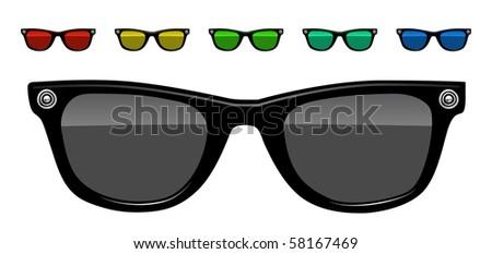 sunglasses vector illustration - stock vector