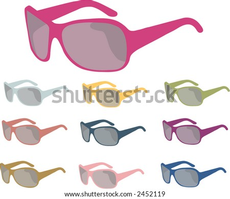 sunglasses vector  isolated choices - stock vector