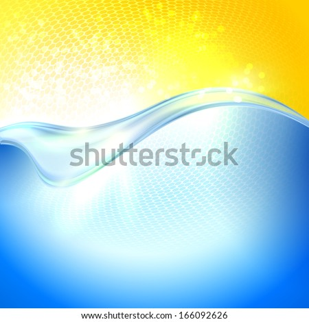 Sunlight above the water. Abstract background. - stock vector