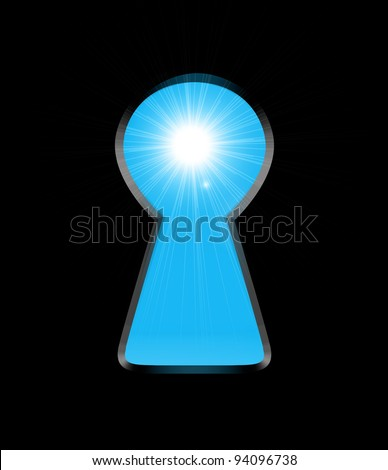 Sunlight from the keyhole - stock vector