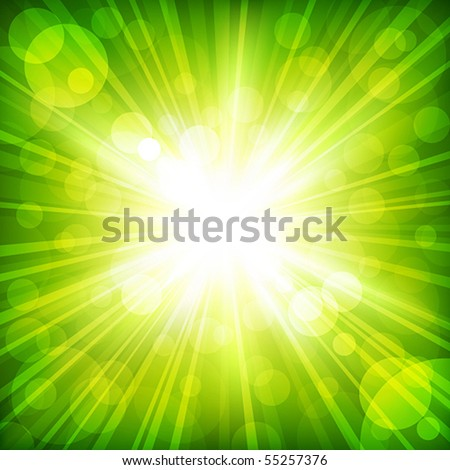 Sunlight. Vector illustration - stock vector