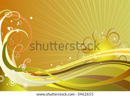 Sunny Background (easy-to-edit layers) - stock vector