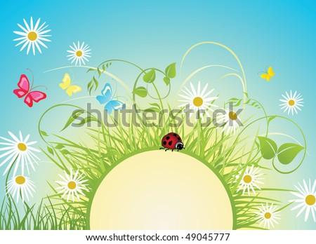 Sunny day - stock vector