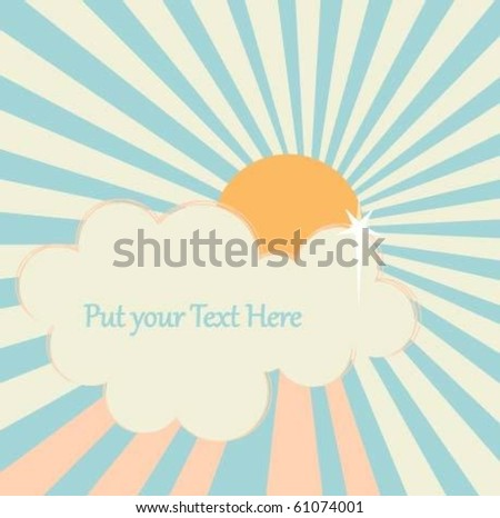 sunny day template - stock vector