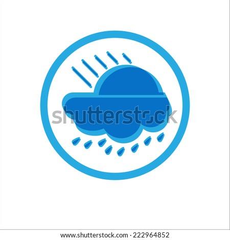 Sunny Day with Rain. Vector Illustration - stock vector
