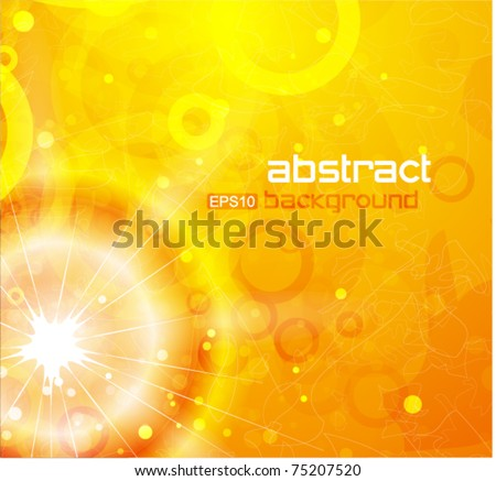 Sunny eps10 vector background - stock vector