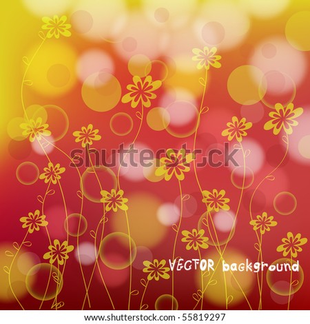 Sunny meadow with flowers. 10 EPS Format