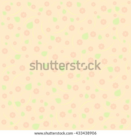 sunny pastel floral pattern. Floral vector background - stock vector