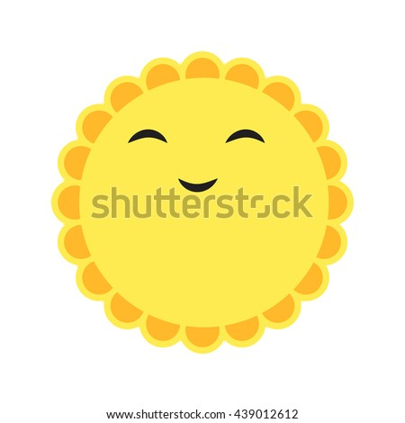 sunny smile - stock vector