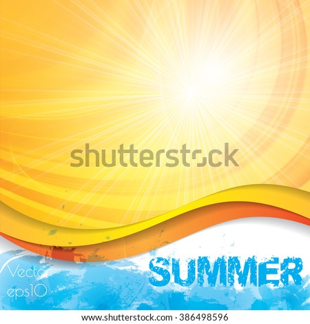 Sunny summer abstract sun ray background