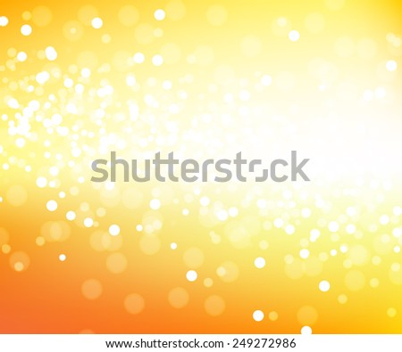 Sunny vector yellow glitter background, bright blurred abstract design backdrop - stock vector